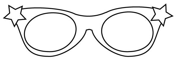 printable sunglasses template
